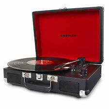 Brand New Crosley Cruiser Turntable Vinyl Record Player 3 Speed Retro Black