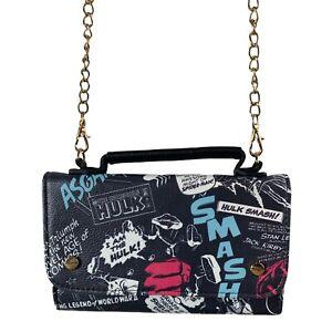 Marvel Comics Crossbody Small Purse Wallet Chain Strap Women's Clutch