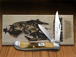 Case xx John Wayne Peanut Knife Burnt Deer Stag The Duke Pocket 10698