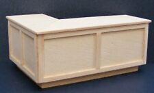 1:12 escala en ángulo recto acabado natural mostrador de bar tumdee medio de Casa de Muñecas