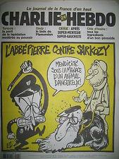 CHARLIE HEBDO 542 L'ABBé PIERRE CONTRE SARKOZY PAR LUZ MOUGEY WOLINSKI SINé 2002