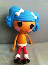 """Lalaloopsy Mittens Fluff N Stuff Full Size 12"""" Retired Nude Doll Blue Hair Play"""