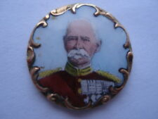 C899-02 BOER WAR VINTAGE GENERAL FRENCH SMALL HAND PAINTED ENAMEL PLAQUE