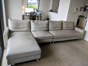 King Furniture Delta Modular Lounge Cream Leather