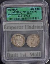 ROMAN EMPIRE HADRIAN (AD 117-138) ICG EF 40 PLEASE LQQK!!