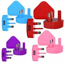 100% CE Mains USB 3 Pin Power Plug Charger Adapter For iPhone5 6Plus 7 8 10-2018