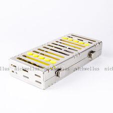 Dental Five Equipment Sterilization Cassette Rack Tray Box Surgical Instruments