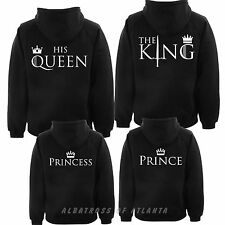 King Queen Hoodie Couple Matching  Romantic Stag Hoody (PRINTED ON BACK)