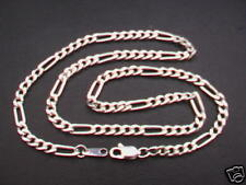 "925 Sterling Silver Figaro Chain Necklace. 18"". 11.8g"