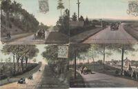SARTHE CIRCUIT 1906 France 14 Vintage Car Racing postcards