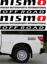 """NISMO OFFROAD TRUCK 4x4 DECALS STICKER DECAL 3M VINYL 4""""x14"""" COLOR: BLACK / RED"""