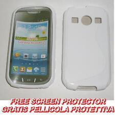 Pellicola+Custodia cover case WAVE BIANCA per Samsung S7710 Galaxy Xcover 2