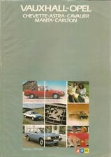 Vauxhall Opel January-February 1983 UK Market Sales Brochure Astra Cavalier