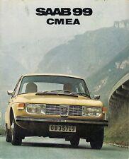 Saab 99 1971-72 UK Market Sales Brochure 1.8 Carburettor Fuel Injection 2dr 4-dr