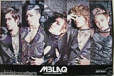 """Mblaq """"Just Blaq"""" Poster From Asia - Korean K-Pop Boy Band Looking Glamourous"""