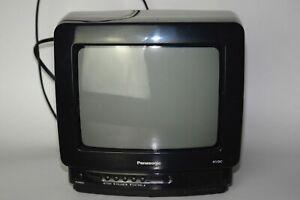 "VTG 1995 Panasonic Color TV CT-9R20T Black 9"" Diagonal AC/DC Gaming NO REMOTE"