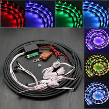 "7 Color LED Under Car Neon Lights Glow Underbody System Kit 36"" x 2 + 48"" x 2 AU"