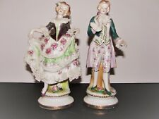 Vintage Antique Handcrafted Porcelain Man & Woman Made In Occupied Japan Statues
