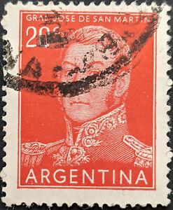 Stamp Argentina SG862 1954 20c General San Martin Used