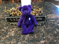 Princess Diana Ty Beanie Baby Bear 1997, PE pellets, Made in China, no tag
