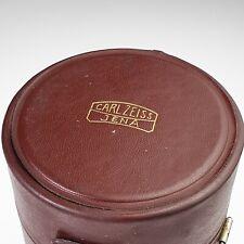 Vintage Carl Zeiss Jena Camera Lens Hard Leather Case For Big Zoom Lenses Japan!