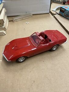Vintage 1968 Dealer PROMO 1/24 Model, CORVETTE 427 CONVERTIBLE! RED