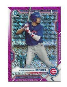 2021 Bowman Chrome Prospects: Christopher Morel > Fuchsia Shimmer Refractor Card