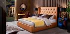 Bett Schlafzimmer Möbel 6tlg. Leder Komplett Set Design Luxus Betten Nachttisch günstig