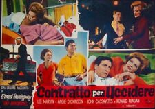 KILLERS Italian fotobusta movie poster 2 ANGIE DICKINSON LEE MARVIN REAGAN 1964