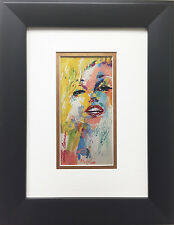 "LeRoy Neiman ""Marilyn Monroe"" Newly CUSTOM FRAMED Art Print - Movie Star JFK"