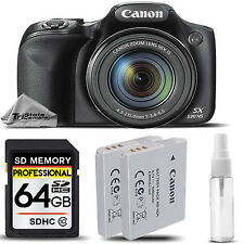 Canon PowerShot SX530 HS Digital Camera 50x Optical Zoom + EXT BATT - 64GB KIT