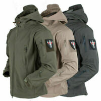 Outdoor Waterproof Mens Jacket Tactical Winter Coat Soft Shell Military Jacket