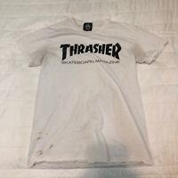 Thrasher T-shirt Official Skateboard Magazine Tee Black/White Small Has Stains