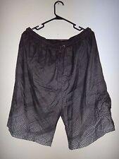BALBOA Men's Swim Trunks Shorts Briefs Pockets Black Gray 100% Polyester Sz XL