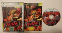 Wwf Raw 1 WWE Wrestling  Original Xbox Game Works / Tested Complete