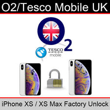 O2UK/Tesco Mobile iPhone XS/XS Max Factory Unlocking Service