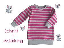 Schnitt + Anleitung Sweatkleid / Longpullover  Gr. 80 - 140 als Ebook
