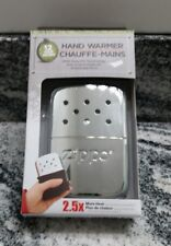 New Zippo High Polish Chrome 12 hour hand warmer model 40323 BEST PRICE ANYWHERE