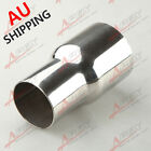 """70mm (2.75"""") ID To 63mm (2.5"""") OD SS Flared Exhaust Reducer Connector Pipe AU"""