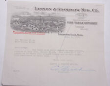 1928 Lamson Goodnow Variety Shop Birmingham MI Signed Ephemera L901B