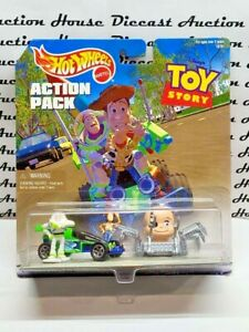 HOT WHEELS VINTAGE ACTION PACK TOY STORY RC CAR AND BABY FACE WOODY BUZZ