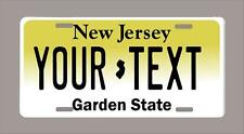 """NEW JERSEY custom novelty license plate-your name or text 6""""x12"""""""