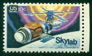 US #1529 10¢ Skylab, Yellow & Blue COLOR SHIFT ERROR, og, NH, VF