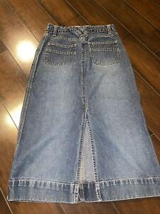 Old Navy Denim Long Skirt Girls Size 10 Adjustable Waist