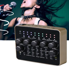 Broadcast Live Sound Card Audio External USB Headset Mic Mixer for Phone PC