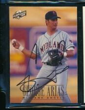 1996 Excel baseball card #21 George Arias signed autograph tough sig