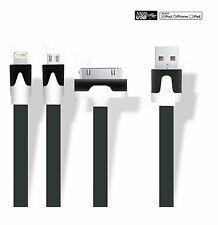 Câble Chargeur 3 en 1 iPad iPhone Smartphone Micro USB Tablette lightning Noir