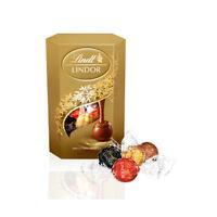 Lindt LINDOR Assorted Milk, White & Dark Chocolate Candies 200g