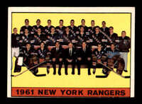 1961 Topps #63 Rangers Team Picture  VGEX X1502854