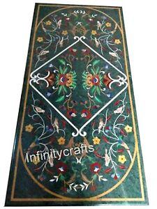 30 x 72 Inches Marble Coffee Table Top Peitra Dura Art Elegant Look Island Table